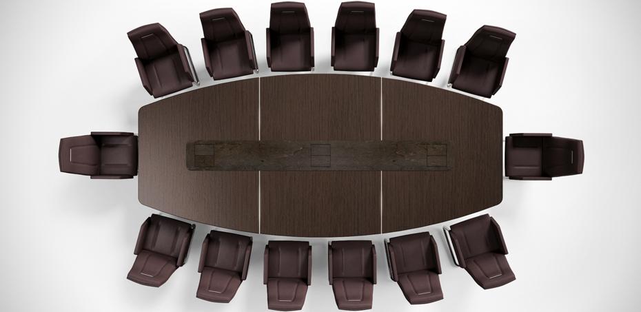 שולחן ישיבות בצורת סירה