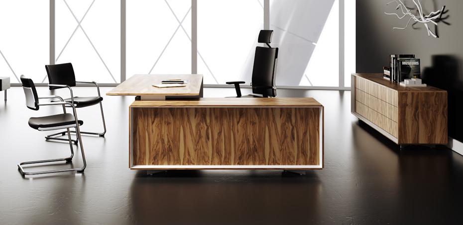 שולחן עבודה יוקרתי מעץ - Ceo מאת Mascagni