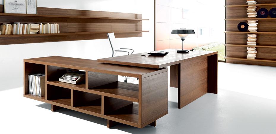 פתרונות אחסון לחדרי מנהלים, שולחן Lithos מאת Della Rov